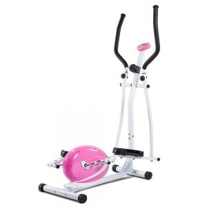 Sunny Health Fitness Pink Magnetic Elliptical Trainer