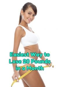 Losing 20 pounds in a month