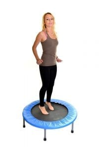 Woman on a rebounder