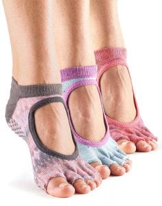 ToeSox Bella Half Toe Yoga Socks