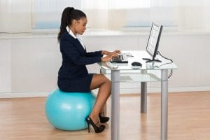 Yoga ball chair benefits