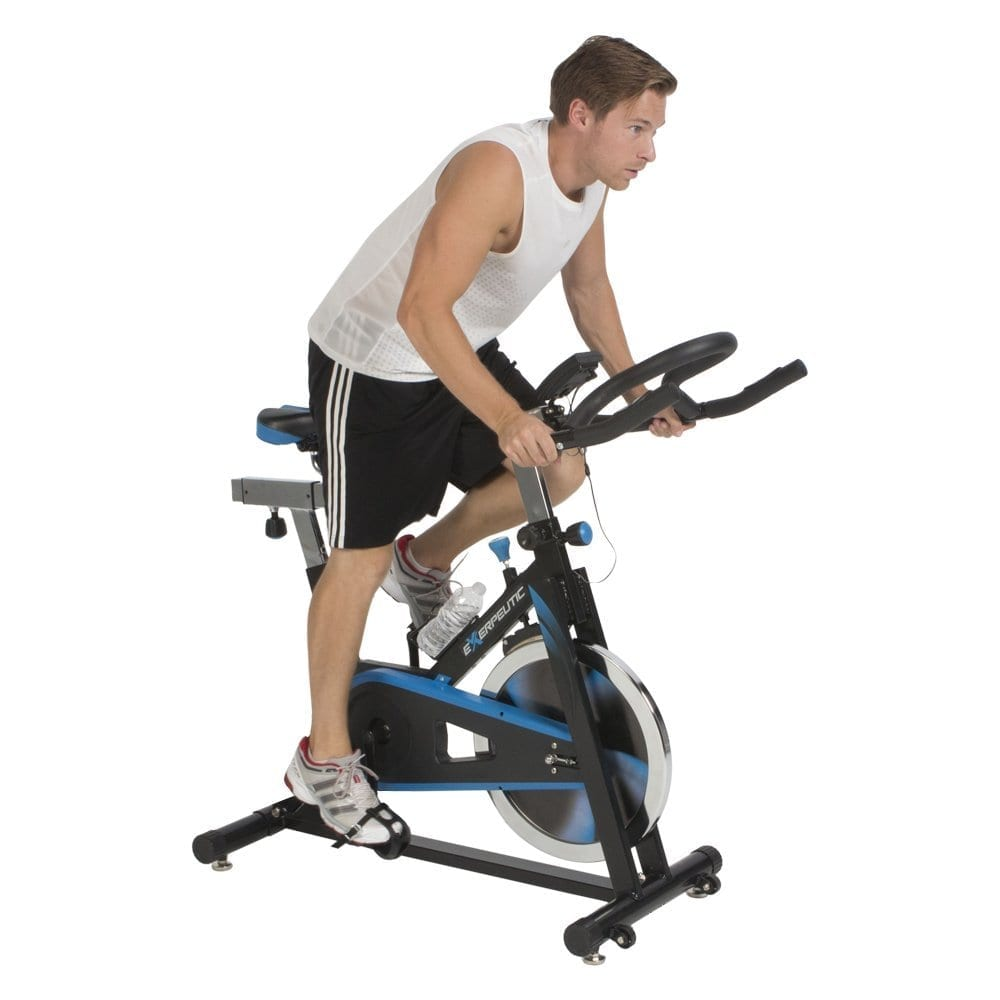 Exerpeutic LX7 Indoor Cycle Trainer with Computer Monitor ...