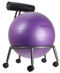 Isokinetics Inc. Brand Adjustable Fitness Ball Chair