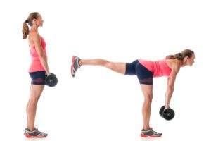 Deadlift with Upright row exercise