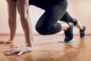 Core sliders workout
