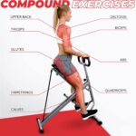 Sunny Health & Fitness Squat Assist Row n' Ride Trainer